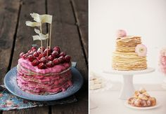It's Shrove Tuesday, and to many of us that means Pancake Day! These tasty sweet treats don't have to be eaten just one a year - if you flipping love pancakes, why not pile them high in an increasingly popular pancake tower at your wedding? Banana Breakfast, Breakfast Cake, Breakfast For Dinner, Wedding Breakfast, Homemade Hot Pockets, Yummy Treats, Sweet Treats, Pancake Cake, Pancakes