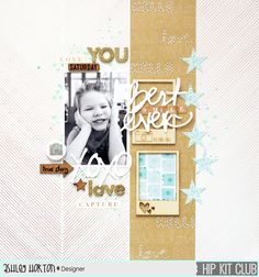#Papercraft #scrapbook #layout. Best Smile Ever by ashleyhorton1675 at @studio_calico