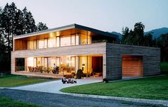 Contemporary wooden house by architect Daniel Sauter