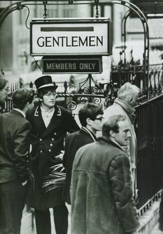 John Lenon took time out from Beatles activities to make a brief appearance as a doorman for an upscale gentlemans' club. November 27, 1966