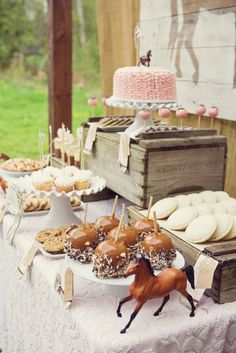Vintage Pony Themed 4th Birthday Party with Lots of Really Great Ideas via Kara's Party Ideas Kara Allen KarasPartyIdeas.com #CowgirlParty #WesternParty #VintageParty #PartyIdeas #Supplies (16)