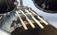 StickARK Drumstick Holder on PDP bass drum
