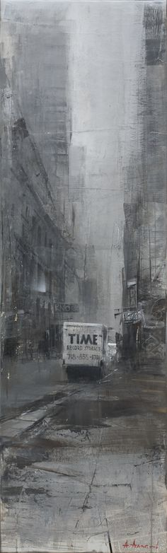 Alexey Alpatov, time, 2009 - mixed media on canvas, 160/40cm