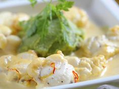 Fish Recipes, Recipies, Healthy Recipes, Creme Fraiche, Foie Gras, Cooking Time, Potato Salad, Cauliflower, Seafood