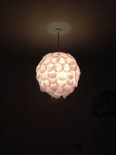 Pink paper lamp