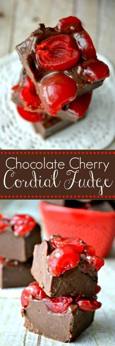Easy 4-ingredient fudge that tastes just like a chocolate covered cherry cordial! (Bake Goods 4 Ingredients)