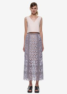 cf4477f1b1a4a Self Portrait Dressess · AVAILABLE NOW Arabella Midi Skirt in Smoked Lilac