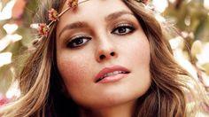 hippie makeup: rose gold