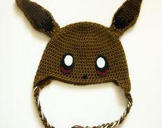 Eevee Crochet Hat   Pokemon Crochet Beanie
