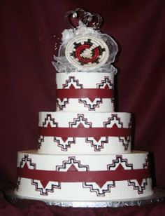 Hmm.... do you think it's white or chocolate cake?  Native American wedding cake