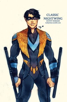 Classic Nightwing (outfit remake) by Maby-chan on DeviantArt