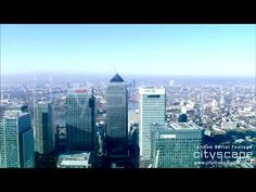 London Aerial Footage - Approach to Canary Wharf London Bridge, London City, Aerial Footage, London Eye, New York Skyline, Travel, Viajes, Destinations, Traveling
