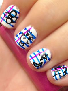 Back to school: notebook nail art