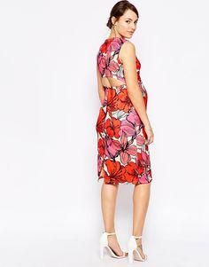 Image 2 -ASOS Maternity Scuba Bodycon Dress In Bright Floral Print
