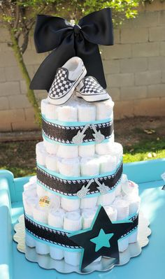 """Photo 5 of 40: Rock n Roll, Guitar, Boy / Baby Shower/Sip & See """"Rock A Bye Baby Shower"""" 