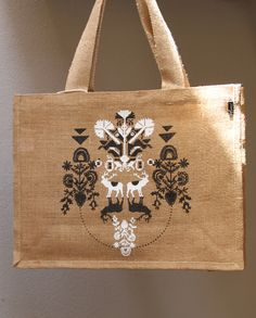 ZEMLJA JUTE TOTE - Inspired by Croatian folklore