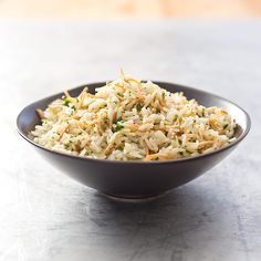 Rice and Pasta Pilaf with Crispy Shallots and Pistachios Serves 4 to 6 as a side dish / Source: Cook's Illustrated May/Jun 2014 cups basmati rice o Rice Dishes, Food Dishes, Main Dishes, Potato Recipes, Pasta Recipes, Kitchen Recipes, Cooking Recipes, Cooking Rice, American Test Kitchen