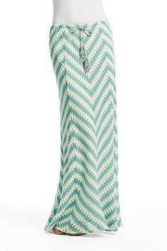 @Calypso St Barth LOVE the turquoise chevron, nautical pattern. Ancilla Chevron Maxi Skirt