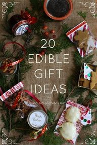 20 Edible gift ideas