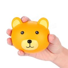 Vlampo Squishy Bear Head 3.9\'\' Slow Rising Original Packaging Kawaii Cute Collection Gift Decor Toy