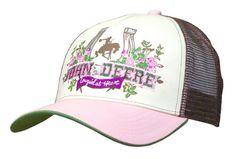 John Deere Cowgirl At Heart Vintage women's Mesh Back Trucker Cap Hat Adjustable in Clothing, Shoes & Accessories, Men's Accessories, Hats | eBay