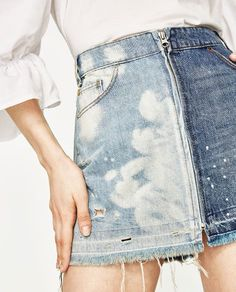Swans Style is the top online fashion store for women. Shop sexy club dresses, jeans, shoes, bodysuits, skirts and more. Denim Skirt Outfits, Denim Outfit, Denim Skirts, Denim Ideas, Denim Trends, Estilo Jeans, Recycled Denim, Denim Fashion, Skirt Fashion