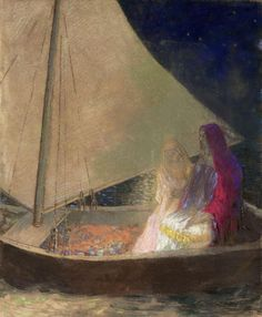 Odilon Redon, The Boat, c.1902, Pastel and charcoal on paper, 61 x 50,8 cm…