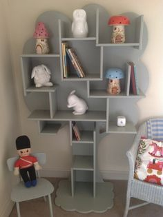 This is so beautiful! Pricey, but gorgeous! Going to see how handy my little bro is with a jig saw! Tree bookshelves from White Rabbit England