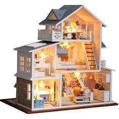 Dollhouse miniature fully furnished   #miniatures #miniature #dollhouse #girlstyle #thingsforants #dolls #diytoys #diyforkids #giftideas #gifts #giftsforher #diy #miniatureart #miniaturefurniture #miniatureworld Cabin Dollhouse, Pink Dollhouse, Cardboard Dollhouse, Dollhouse Toys, Wooden Dollhouse, Wooden Dolls, Dollhouse Furniture, Dollhouse Miniatures, Home Furniture