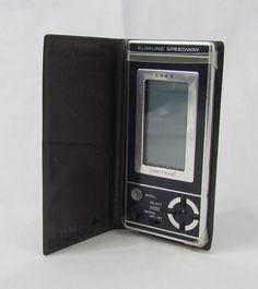 Vtg 1980 Tomy Slimline Speedway Tomytronic LCD Handheld Video Game Case WORKS! #TOMY Handheld Video Games, Retro Video Games, It Works, Gaming, Fun, Vintage, Tomy, Videogames, Game