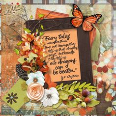 Fairy Tales the Bundle is a fabulous new Fall Release by Studio4 Designworks. These colors are gorgeous!! I used this bundle for my Mystery Box Challenge layout at Go Digital Scrapbooking. The theme is Fairy Tales and Fables!