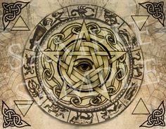 Elemental Zodiac Pentacle - Digital Download Graphic - Symbol of the Craft via Etsy, in my shop Cauldron Craft Oddities.