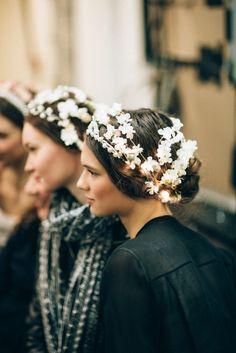 Mis Queridas Fashionistas: Backstage: Reem Acra Fall 2015 Bridal Collection