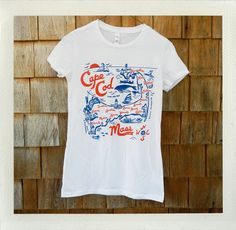 Cabo Cado, illustrated by local Vinnie Arnone, offers kitschy, fun Cape Cod & Islands-themed gifts.    Cape Cod Ladies Tee