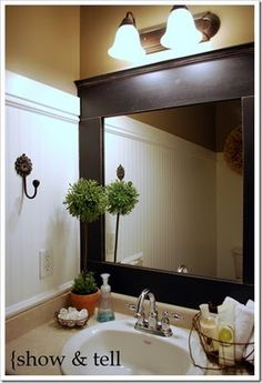 diy framed bathroom mirror show to terri for masterbath
