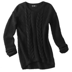 Mossimo® Women's Cable High-Low Pullover Sweater