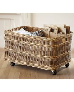 Jacquelyne Recycling Bin Basket on wheels!