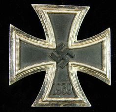 Fine example showing black matte finish and nice patina along the silver edges. The reverse shows normal patination. Military Art, Military History, World War Two, Wwii, Army, Nice, Awards, Silver, German