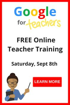Maybe you like the idea of Google tools, but don't know how to apply them or maybe you just want to learn a little more about them, but regardless, we have the webinars for you. Join any of our sessions to have an intro to Google in the classroom or for specific tools, like Presentations or Google Forms. Improve your style and your tools with our free webinars today.