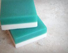 COOL WATER Soap Bars - Vegan Soap for Men - Masculine Manly Scented Soap - Vegan Gift for Boyfriend - Homemade Soap For Him - Teal Aqua Blue