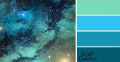 Liked on Pinterest: Сочетание цветов голубой. Лазурь