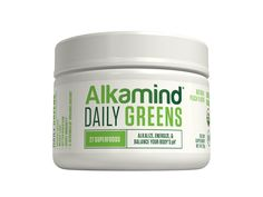 Made from 27 nutrient-dense, alkaline superfoods, Alkamind Daily Greens are rich in chlorophyll, vitamins, minerals, and anti-oxidants. We've included alkaline powerhouses like wheatgrass juice, turmeric, beetroot, spinach, kale, chia, lemon, 8 different sprouts (and much more) in a light, refreshing peach taste to alkalize, detoxify, and energize your body!  Take first thing upon waking to jump-start your day, before a workout, or anytime you are experiencing a crash during your day.