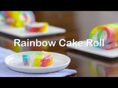 Rainbow Cake Roll Recipe - Tablespoon.com