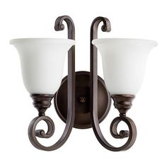 Quorum Bryant 2 Light Wall Sconce Finish:
