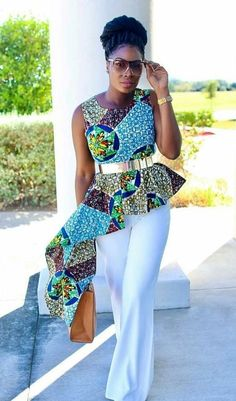 Collection of the most beautiful and stylish ankara peplum tops of 2018 every lady must have. See these latest stylish ankara peplum tops that'll make you stun African Inspired Fashion, African Print Fashion, Africa Fashion, Ankara Fashion, African Tops, African Women, African Attire, African Wear, African Style