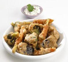 Vegetarian vegetable pakoras - Vegan Indian food snack recipe (Gluten-free)