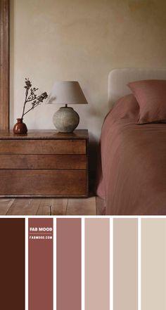 Warm Bedroom Colors, Earthy Bedroom, Bedroom Colour Palette, Bedroom Color Schemes, Apartment Color Schemes, Room Ideas Bedroom, Home Decor Bedroom, Earth Tone Bedroom, Earth Tone Decor