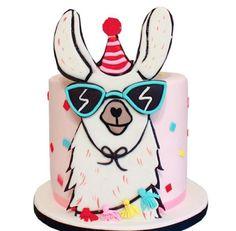 Llama birthday cake made with Satin Ice Fondant Llama Birthday, Birthday Fun, Birthday Cake, 10th Birthday, Animal Cutouts, Satin Ice Fondant, Animal Cakes, Piece Of Cakes, Cute Cakes