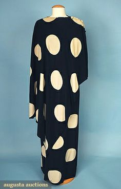 Augusta Auctions, April 2006 Vintage Clothing & Textile Auction, Lot 615: Balmain Couture Evening Set, 1970s