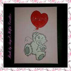 Canvas voor kinderkamer. Kan in verschillende kleuren gemaakt worden, afbeelding/tekst naar uw eigen keuze